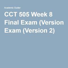 ACCT 505 Week 8 Final Exam(Version 2)