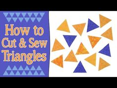 How to Cut & Sew Triangles for Quilting (60° Equilateral Triangles) - YouTube