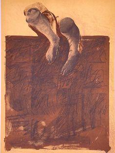 El caminante. 1975. Litografía + fotolito, 76 x 56 cm mancha, 76 x 56 cm soporte. 930 €.