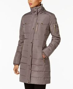MICHAEL Michael Kors Faux-Fur-Trim Down Puffer Coat - Coats - Women - Macy's