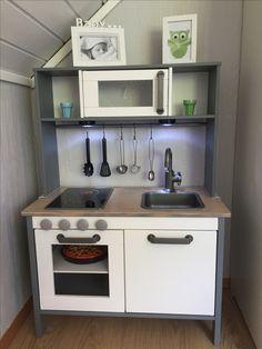 IKEA Duktig hack kids kitchen spraypainted grey