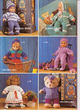 Album Archive - Gjerstal no 148 Knitting Dolls Clothes, Baby Doll Clothes, Crochet Doll Clothes, Doll Clothes Patterns, Knitted Doll Patterns, Knitted Dolls, Knitting Patterns, Bear Doll, Bitty Baby