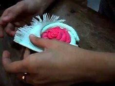 PAP: Flor com toalhinha para lembrancinha.