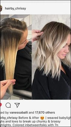Here's Every Last Bit of Balayage Blonde Hair Color Inspiration You Need. balayage is a freehand painting technique, usually focusing on the top layer of hair, resulting in a more natural and dimensional approach to highlighting. Hair Color Balayage, Baylage Blonde, Balyage Short Hair, Blonde Lob Balayage, Blonde Ombre Short Hair, Blonde Highlights Short Hair, Color Highlights, Blonde Hair On Brunettes, Blonde Baylayage