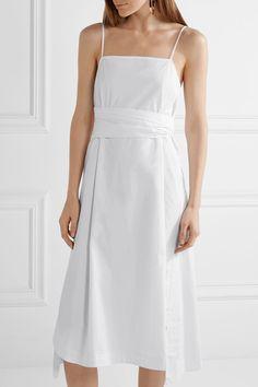 Elizabeth and James - Oak Stretch-cotton Poplin Midi Dress - White - US12