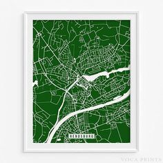 Rendsburg, Germany Street Map Wall Art Poster. Starting at $9.90 with 42 color choices. Click Photo for More Info - #streetmap #map #christmasgifts #wallart #Rendsburg #Germany