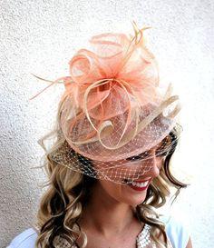 Fascinator Womens Tea Partyhut Hut mit Schleier Kirche Hut