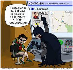 Batman & Foursquare