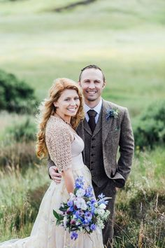 Bride Tatiana wore the Ireland gown by BHLDN for her Scottish elopement. Photography by Carley Buick.