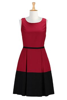 Red hot colorblock dress