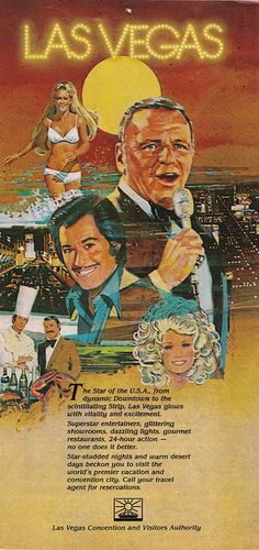 Las Vegas, Nevada - Convention and Visitors Authority (1980s) Frank Sinatra, Wayne Newton, Dolly Parton & More,.... :)))