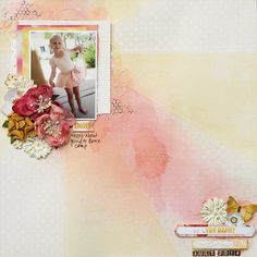Do What Makes You Happy - August 2014 Limited Edition kit from My Creative Scrapbook kit club Websters Pages - Strawberry Fields Collection
