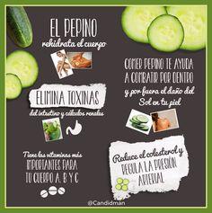 #Infografia 5 #Beneficios para la #Salud del #Pepino... vía @Candidman
