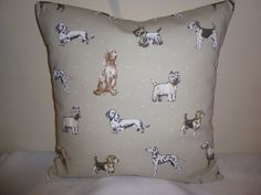 16  NEW CUSHION COVER DOG WESTIE TERRIER DALMATIAN DACHSHUND BEST IN SHOW PUTTY