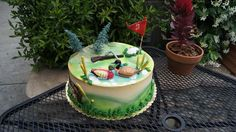 Duck hunting and golf birthday cake Golf Birthday Cakes, Duck Hunting, Waterfowl Hunting