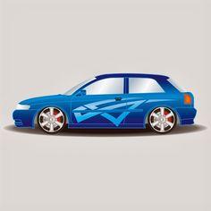 Car Design Vector Coreldraw format