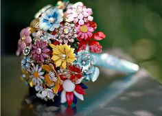 Vintage jewelery - wedding bouquet