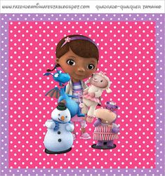 Making My Party - Complete Kits: Doctor Toys (Doc Mcstuffins) - Complete Kit with frames for invitations, labels for snacks, souvenirs and pictures! Girl Birthday Themes, Kids Party Themes, 3rd Birthday, Candy Bar Wrapper Template, Candy Bar Labels, Cute Candy, Best Candy, Personalized Wine Bottles, Doc Mcstuffins Birthday
