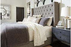 The Sorinella Upholstered Bed from Ashley Furniture HomeStore (AFHS.com).