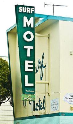 Surf Motel vintage neon sign - San Francisco, CA
