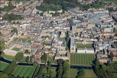 Aerial view of King's College, Cambridge. BBC Cambridgeshire's Heather Noble took a flight in a Cesna four seater with Terry Holloway from Marshall Airport ...