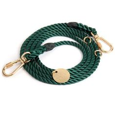 Hunter Green rope adjustable dog leash by New York based designers, Found My Animal. Hand dyed and crafted in Brooklyn New York. Online Pet Supplies, Dog Supplies, Frozen Dog Treats, Rope Dog Leash, Dog Weight, Dog Accessories, Hunter Green, My Animal, Beast