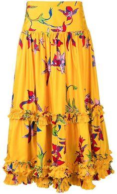 Full Skirt Outfit, Skirt Outfits, Dress Skirt, Stylish Dress Designs, Stylish Dresses, Nice Dresses, Indian Designer Outfits, Designer Dresses, Cotton Maxi Skirts