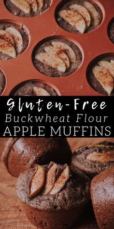 Muffins Sans Gluten, Dessert Sans Gluten, Gluten Free Desserts, Dairy Free Recipes, Buckwheat Muffins, Buckwheat Bread, Buckwheat Recipes, Gluten Free Recipes For Breakfast, Gluten Free Breakfasts