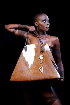 Grace Stephania Hide Bag - made from reclaimed materials by artisans in Africa