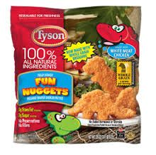 Save .75 on one bag of Tyson chicken nuggets!