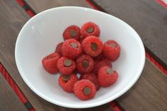 Raspberries with chocolate chips!
