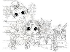 SOFORTIGER DOWNLOAD digitale Digi Stamps Big Eye Großkopf Dolls Digi niedlichen Kinder Friends von Sherri Baldy