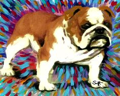 Hey, I found this really awesome Etsy listing at https://www.etsy.com/listing/118960478/bulldog-dog-art-8-x-10-print-poster-of