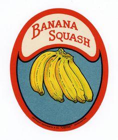 Banana Squash Vintage Packaging, Vintage Labels, Vintage Ads, Vintage Comics, Vintage Designs, Graphic Design Posters, Graphic Design Inspiration, Typography Design, Branding Design