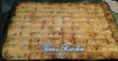 This is one my family's favorite recipes! I get requests for this one a few times a month lol!!! Just like Shepard's Pie, but with Tater Tots instead of mashed taters! Enjoy! :)))  ✿✿ TATER TOT CASSEROLE ✿✿  Ingredients: 1 1/2 - 2 lbs. ground beef or ground turkey 1/2 - onion, finely diced 1 - 32 oz package ore ida crispy crowns or tater tots 1 small-medium bag frozen mixed vegetables 1 - 10 oz can cream of mushroom soup 1 - 8 oz container sour cream or light sour cream 1 - cup milk/lowfat 2…