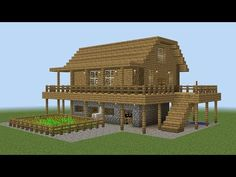 A tutorial on how to build a survival house in Minecraft. This starter building is perfect for beginners who play Minecraft survival mode. Very easy and fast. Minecraft Farm House, Casa Medieval Minecraft, Youtube Minecraft, Minecraft Houses For Girls, Minecraft Houses Xbox, Minecraft Houses Survival, Minecraft House Tutorials, Minecraft Houses Blueprints, Minecraft Plans