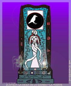 Scatach era la diosa de la guerra y la muerte en Hyrkhania y era la protectora de la aguerrida Red Sonja. Scatach was the goddess of war in Hyrkhania and was the protector of Red Sonja
