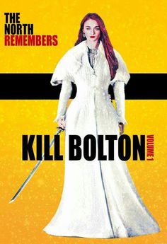 Hell, yeah! Sansa looks boss in this picture. However, white is a highly impractical color to wear whilst spilling blood...