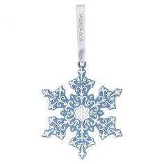 Large Blue Snowflake Tree Decoration 2016