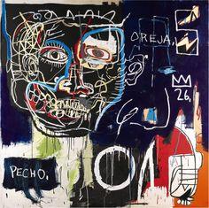 Untitled (Pecho/Oreja) - Basquiat, Jean-Michel (American, 1960 - Fine Art Reproductions, Oil Painting Reproductions - Art for Sale at Galerie Dada Basquiat Artist, Jean Basquiat, Jean Michel Basquiat Art, Basquiat Paintings, Basquiat Prints, Keith Haring, Henri Matisse, Modern Art, Contemporary Art