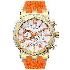 Ρολόι Vogue Feeling Gold Case  amp  Orange Rubber Strap - 17001.4 - http   36d5fa0e4b7