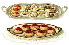 French Pastry ~ Free Vintage Clip Art