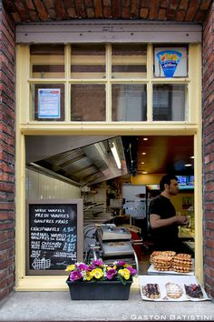 """Waffle Shop from """"The Venice from the North"""" in Brugge, West Vlaanderen region_ Belgium"""