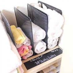 Organize your closet for less with these dollar store closet organization ideas. From organizing your bedroom closet to your cleaning closet, there are plenty of cheap organizing ideas for your home. Linen Closet Organization, Diy Organization, Organizing Tips, Clothing Organization, Dollar Store Crafts, Dollar Stores, Small Linen Closets, Diy Bathroom Decor, Washing Clothes