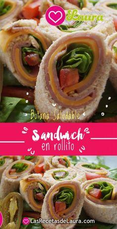 Sandwich en rollo - las recetas de Laura