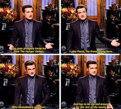 Lol haha funny pics / pictures / Josh / Peeta / Hunger Games Humor