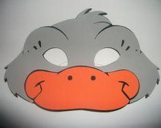 Máscara de Pato cinza