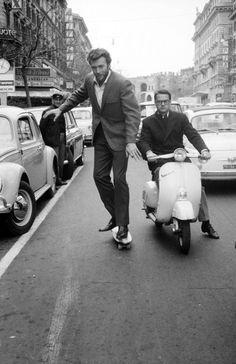 Clint Eastwood skateboarding in Rome, 1964 - Imgur