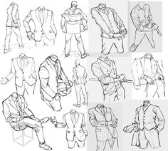 Drawing Clothes Dresses Tutorials Sketch 46 Trendy Ideas Source by ethelvsm ideas drawing Suit Drawing, Drawing Body Poses, Drawing Reference Poses, Drawing Practice, Figure Drawing, Drawing Sketches, Art Drawings, Drawing Ideas, Drawing Drawing