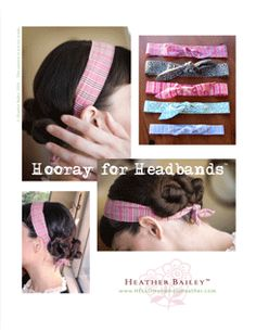 Free downloadable pattern from Heather Bailey...she has other free patterns too... If you like Amy Bulter you'll like Heather